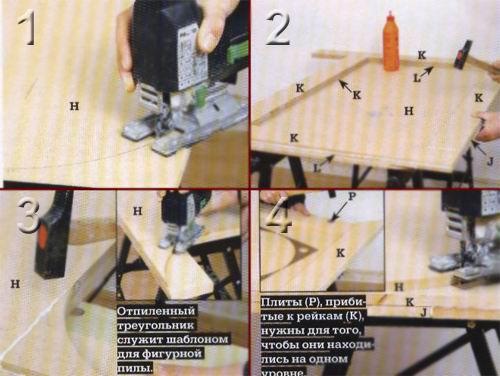 2. К плите (Н)... Дополнительно Дополнительную столешницу можно изготовить из ДВП толщиной 19 мм. соединив ее в два...